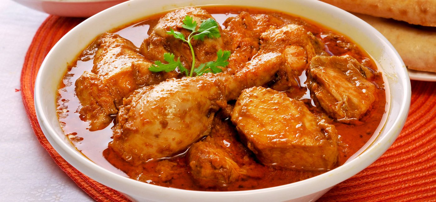 Red chicken korma - India
