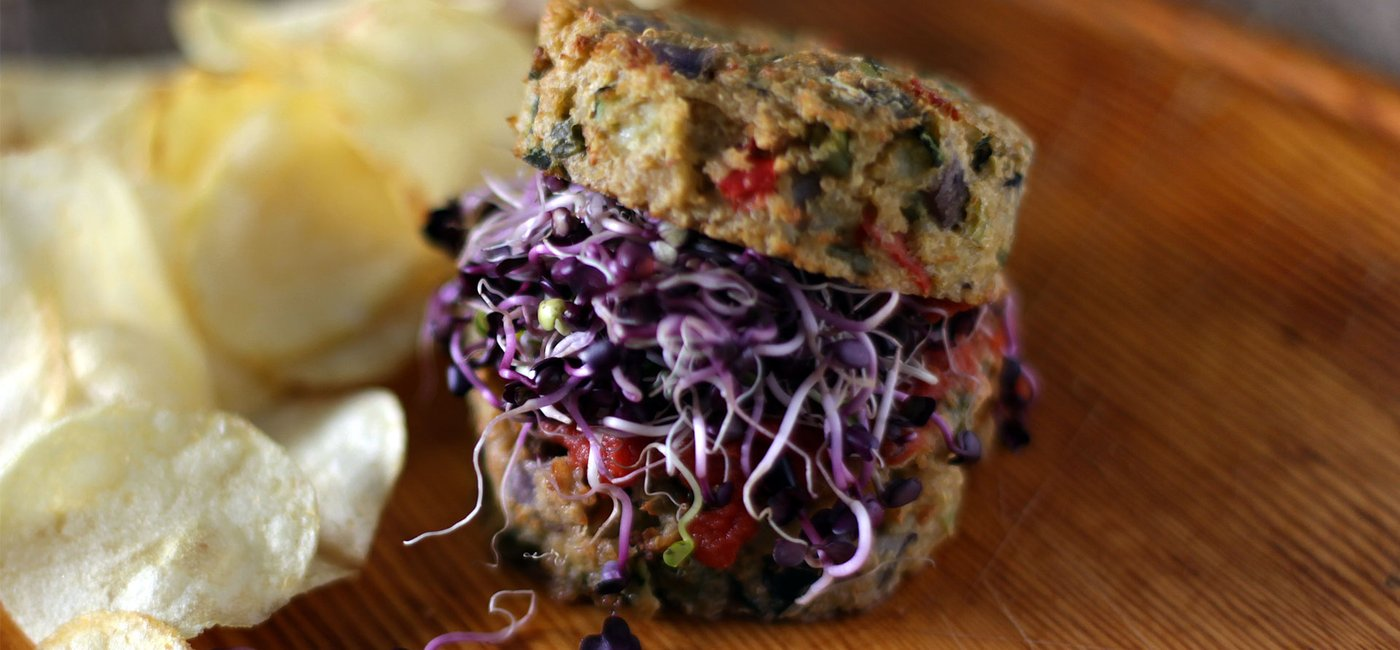 Vegetable and quinoa burgers