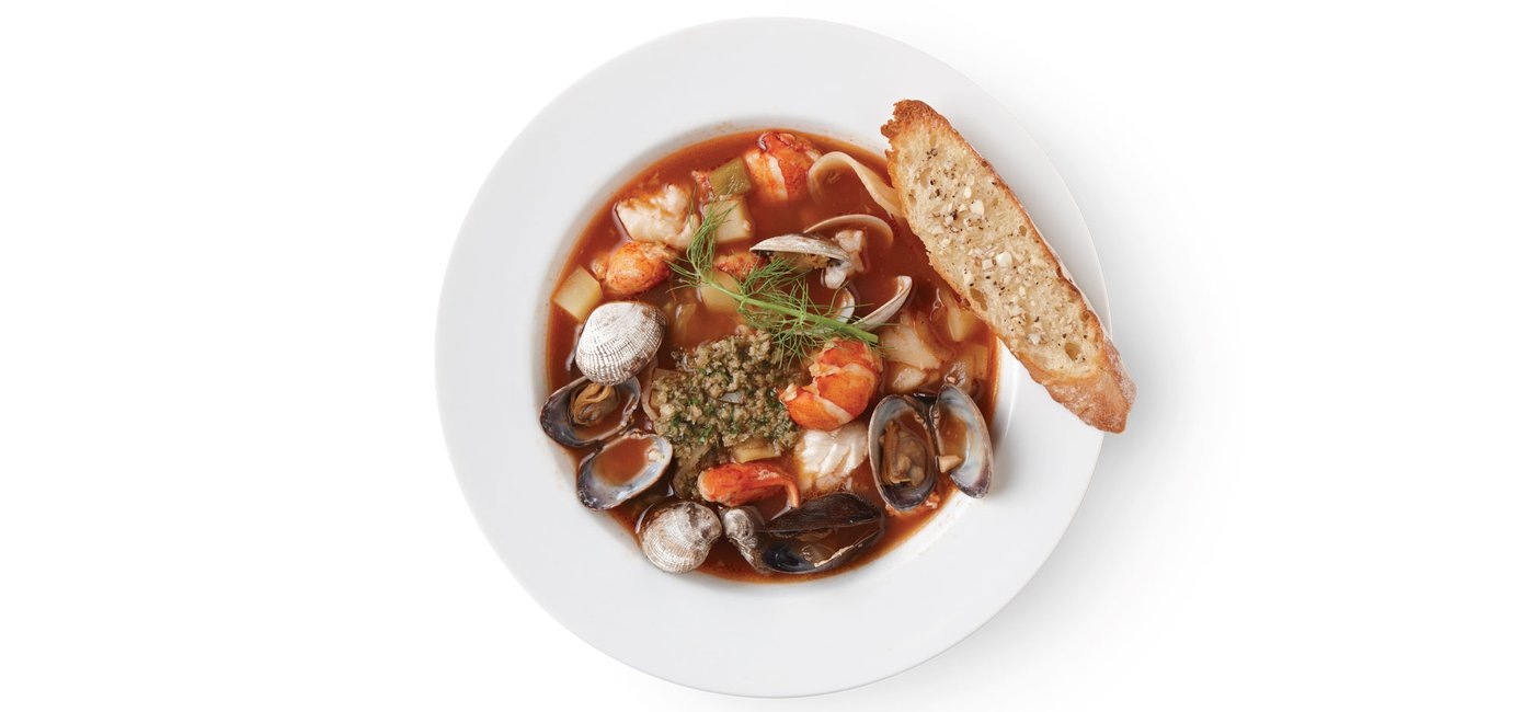 Bouillabaisse with Pesto Rouille