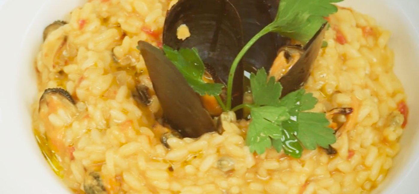 Mussels and clams risotto